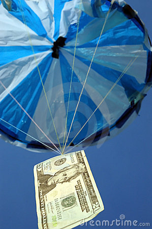 Money and parachute 1