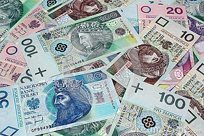 Money polish background