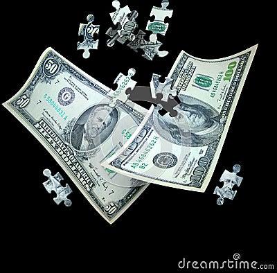 Free Money Puzzle Stock Photography - 5231822