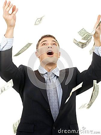 Free Money Rain Stock Image - 3434481