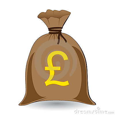 Money Sack Of Pounds Royalty Free Stock Photos - Image: 6374248