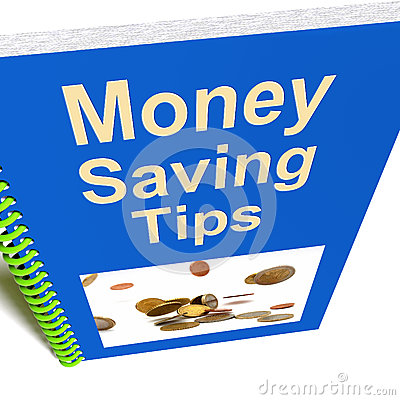 Money Saving Tips Book Shows Finance Advice