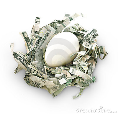 Money Savings Nest Egg