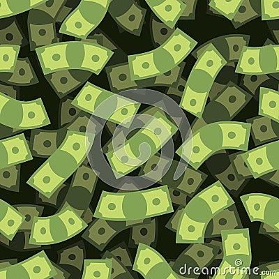 Free Money Seamless Pattern. Cash Background. Money Rain.  Royalty Free Stock Images - 61998649