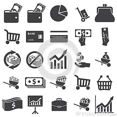 Free Money Set Icon Royalty Free Stock Photo - 36936225