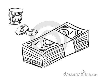 деньги картинки нарисованные