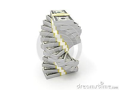 Money spiral us dollars