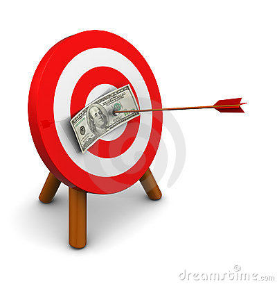 Free Money Target Royalty Free Stock Photos - 21230058
