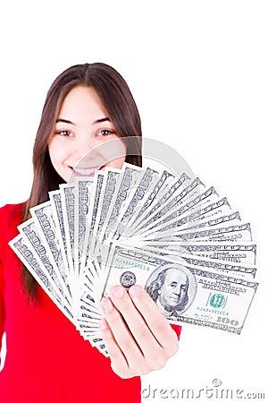 Money In Teenager Hands