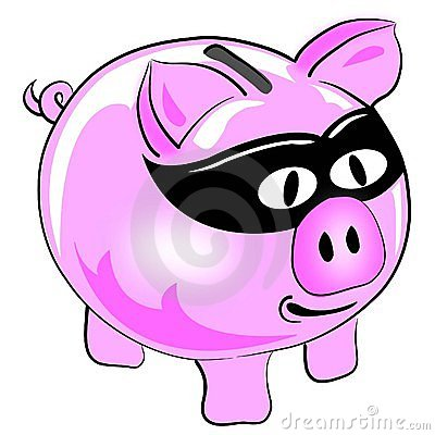 Money theft pig