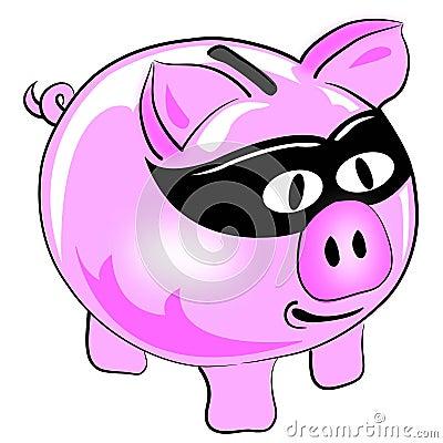 Money theft pig