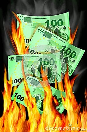 Free Money To Burn Stock Image - 17743491