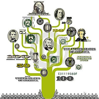 Money tree background