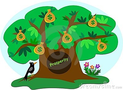Money Tree of Prosperity with Crow