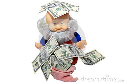 Money and wealthy gnome