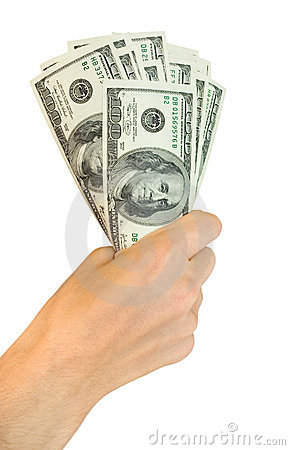 Free Money With Hand Royalty Free Stock Photo - 6450345