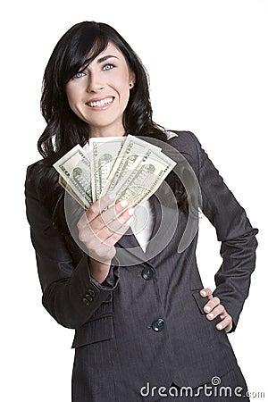 Free Money Woman Royalty Free Stock Image - 1855896