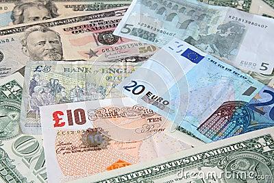 Money. World currencies