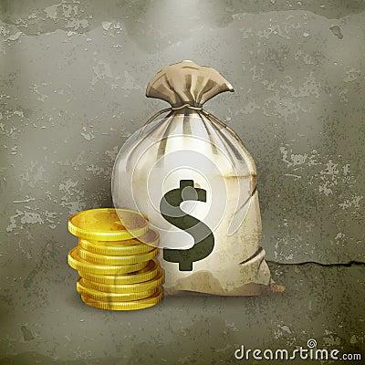 Moneybag som är old-style