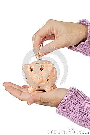 Moneybox en munten