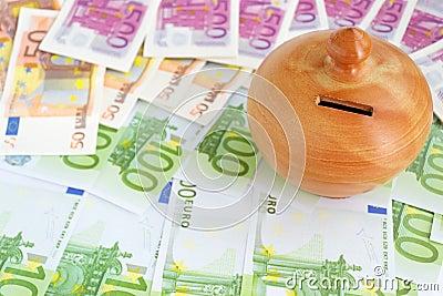 Moneybox on euros