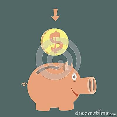 Moneybox for money