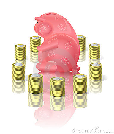 Moneybox Piggy con soldi