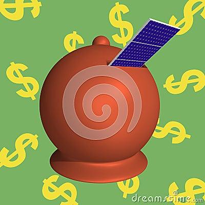 Moneybox solar panels