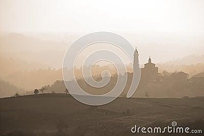 Monferrato skyline, Italy