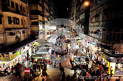 Mong Kok, Hong Kong Editorial Stock Image