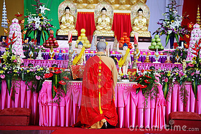 A monge Pray dentro