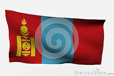 Mongolia 3d flag