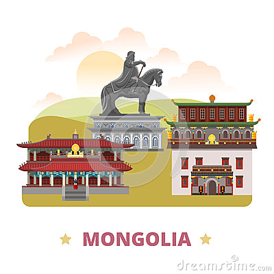 Free Mongolia Country Design Template Flat Cartoon Styl Royalty Free Stock Photography - 73370607