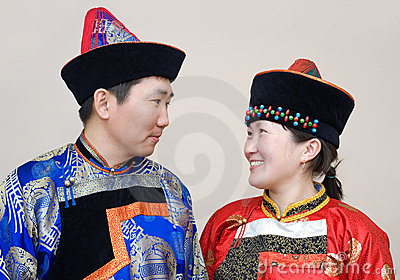 Mongolian couple