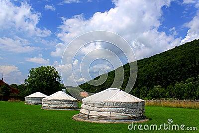 Mongolian home - yurts