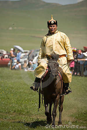 Mongolian Horse racer Editorial Photo