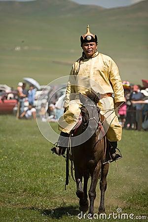 Mongolian Horse racer Editorial Photo