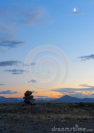 Free Mongolian Landscape With Mountains And Steppe Royalty Free Stock Photography - 77378517