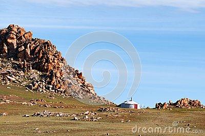 Mongolian nomad home