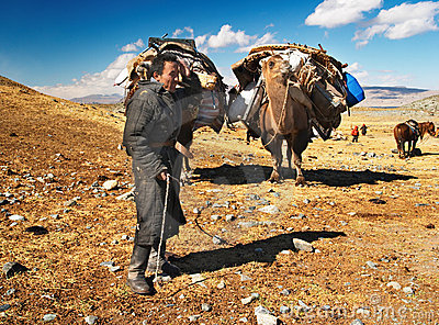 Mongolian nomads Editorial Photo