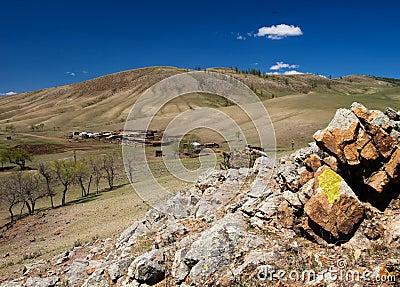 Mongolian remote settlement