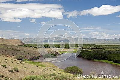 Mongolian River Landscape