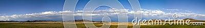 Mongolian Steppe Landscape Panorama