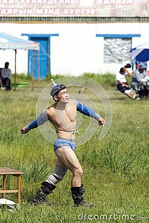 Mongolian Wrestler Editorial Stock Photo