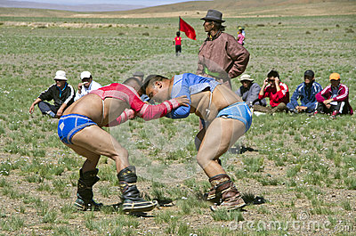 Mongolian wrestlers Editorial Stock Photo