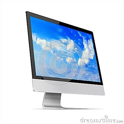 moniteur moderne d 39 ordinateur d 39 cran plat illustration stock image 54152084. Black Bedroom Furniture Sets. Home Design Ideas