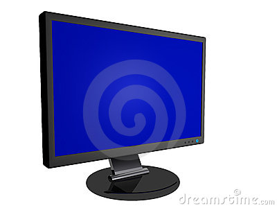 Monitor with Blank Screen