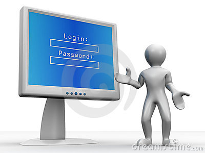 Monitor with Login and password
