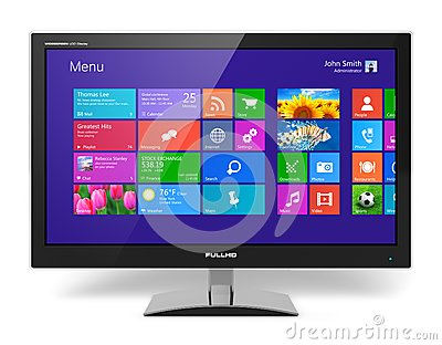 Monitor with touchscreen interface