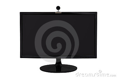 Monitor and webcam